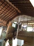 7月20日奈良の神社。鈴が珍しい^