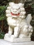7月20日 真っ白な狛犬、ステキ!!