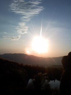 2009年9月9日 龍の目を入れるご神事の後 素敵な太陽でした。