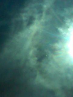 2009年9月10日 ご神事の帰りの車中から もう少し早く写していれば、 七福神がもっとはっきり見えたのに…。