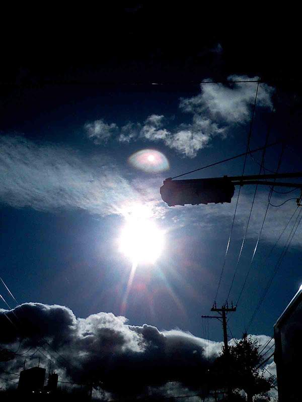 2010年12月14日 虹の様な太陽の光が とても綺麗です。