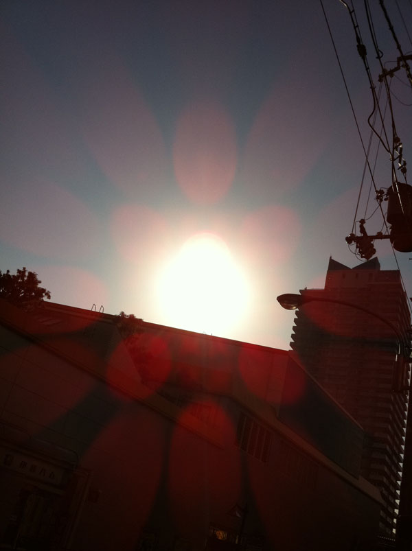 2011年2月16日 太陽が出ていました
