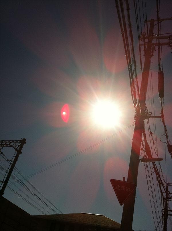 2011年3月13日 太陽の周りのピンクは 映らなくなりました。
