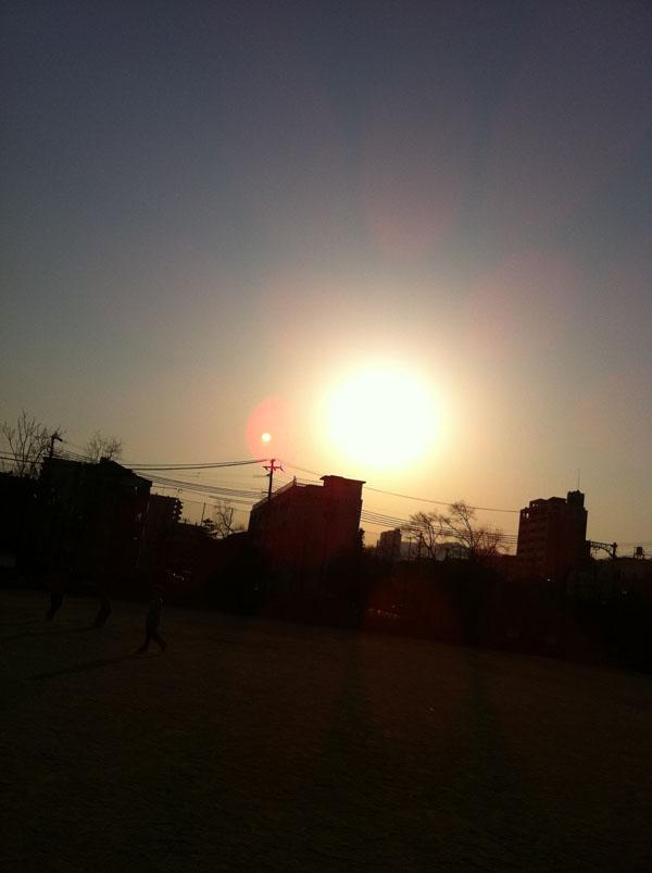 2011年4月1日 夕方の太陽です