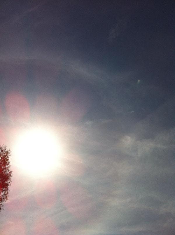 2011年5月25日 太陽に輪が掛かるのって、 どういう状況なのかな?