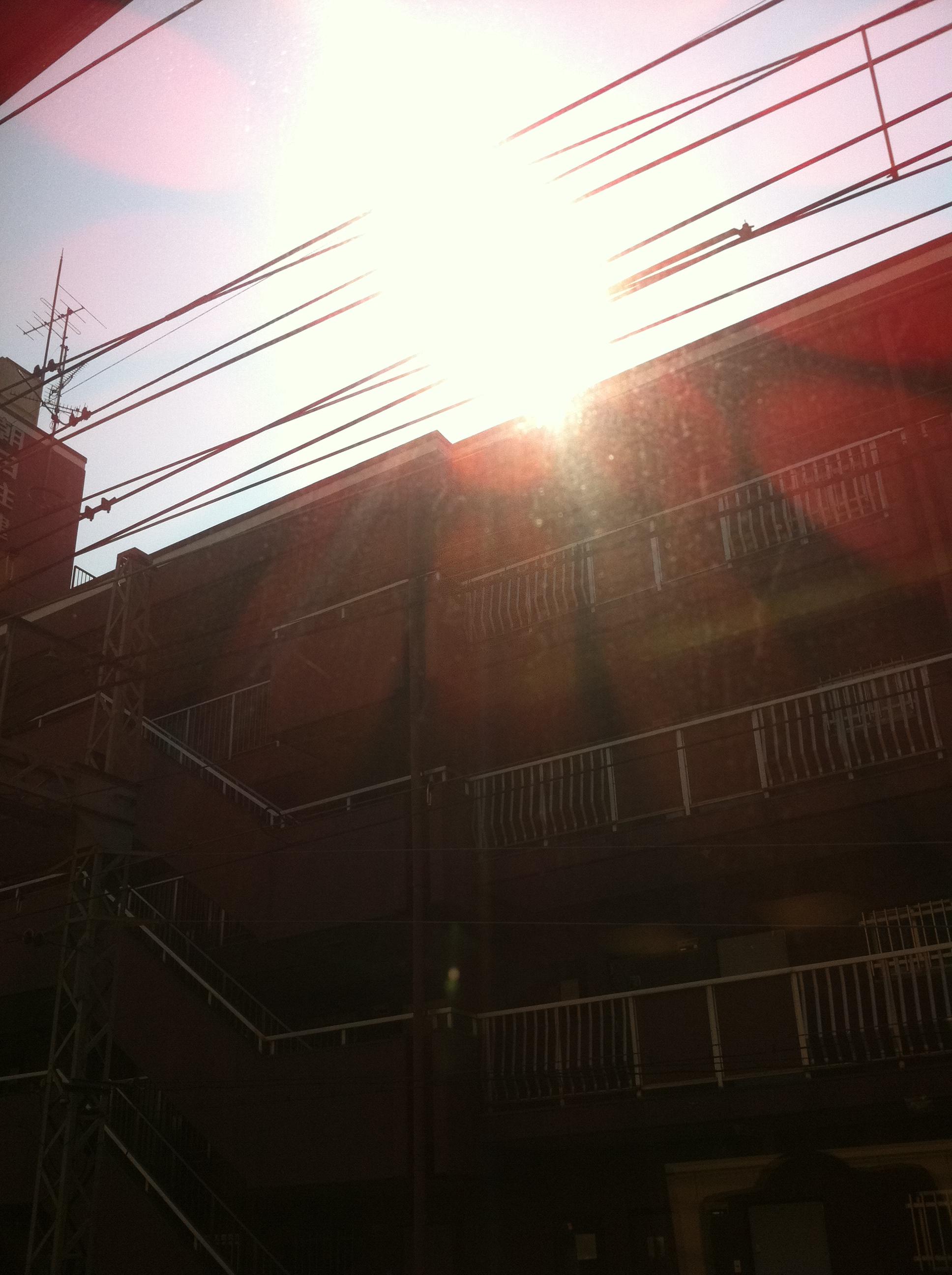 2011年10月9日 建物に映える光が綺麗です