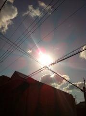 2012年3月21日 光線が、長く延びています。 気持ちいいです~。