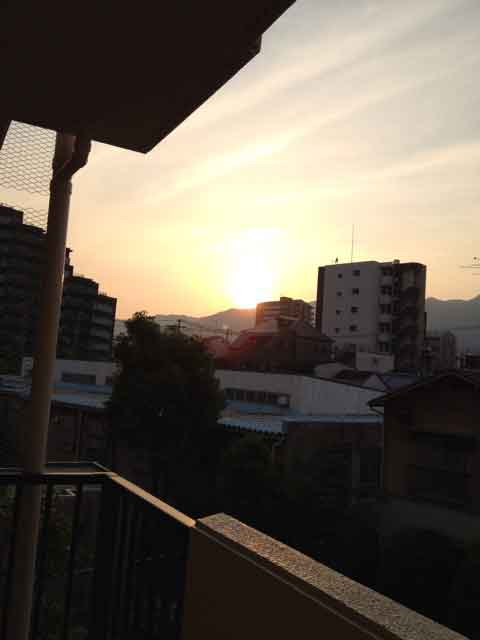 6月1日 夕日が綺麗!