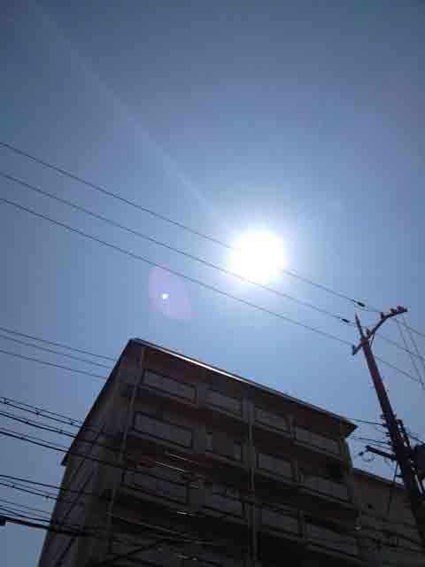 6月20日 雲の合間の太陽