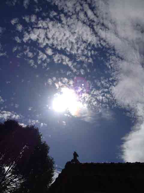8月15日 夏っぽくない雲ですね