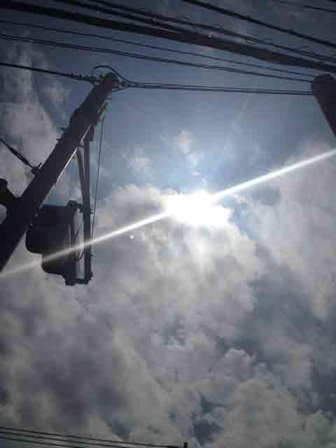9月16日 雲に遮られながら強烈な光!