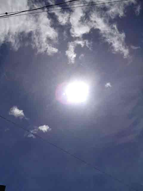 9月17日 太陽の周りがま~るい??