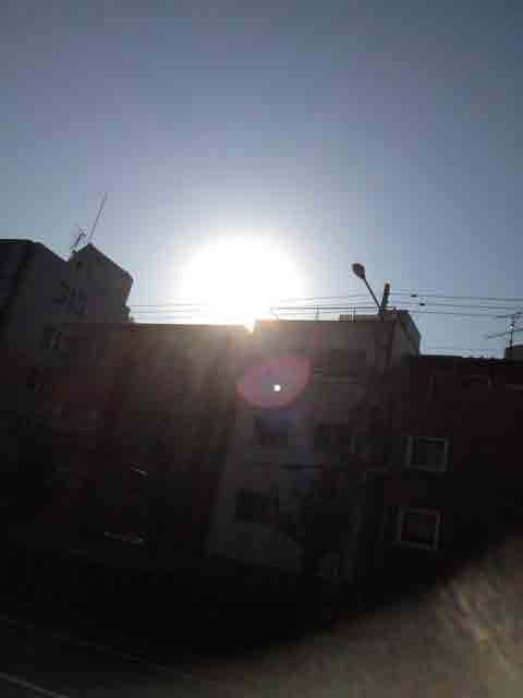 10月22日 朝の太陽です