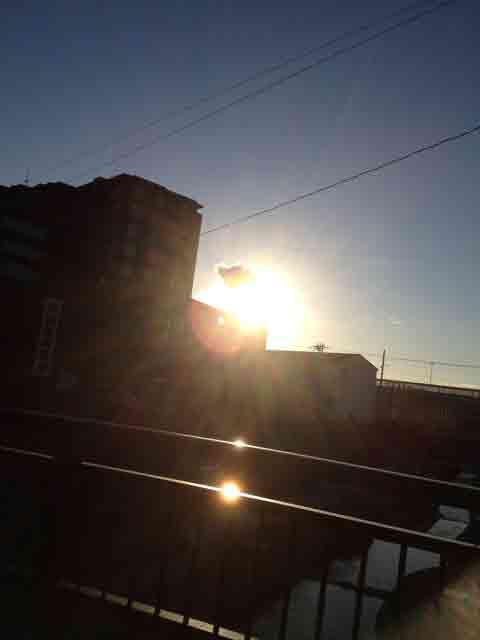 12月10日 夕日も綺麗^^