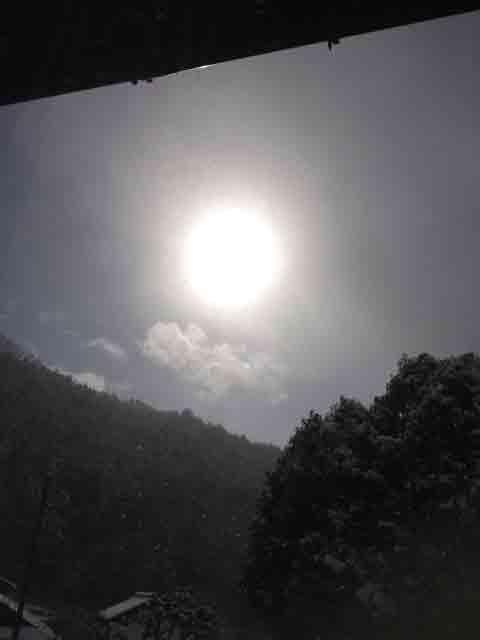 1月3日 やっとほんの少し太陽が…