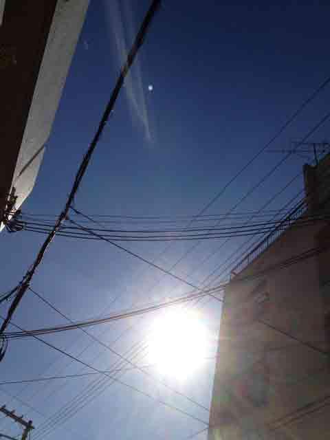 1月10日 どんどん光が太陽から離れていきます 虹のような色なんです。