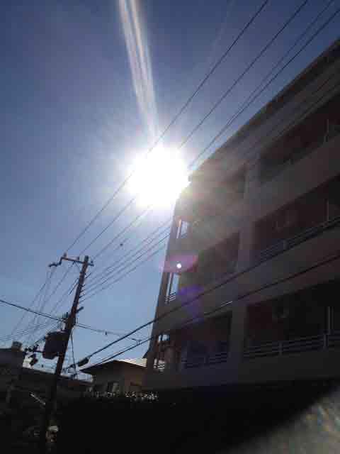 1月10日 太陽から光が! 雲ではありません。