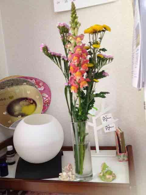 2月8日 受講生さんにお花を頂きました
