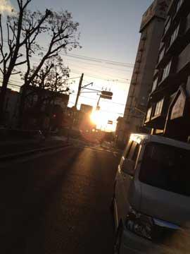 3月3日ひな祭りの日の夕日^^