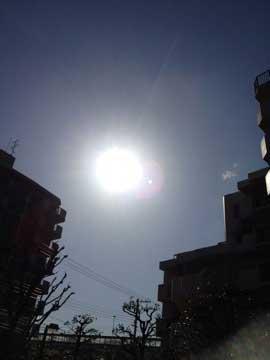 12日何となく太陽の周りが丸い