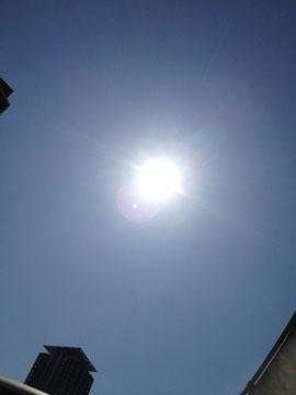 13日とっても良い天気!!太陽もエネルギッシュ!!!