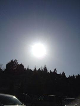 13日太陽が何となく、荘厳?!