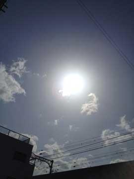 22日の太陽