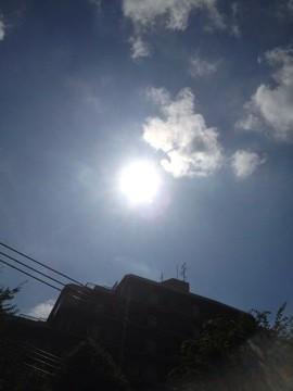 7月1日 相変わらず太陽の周りに輪があります