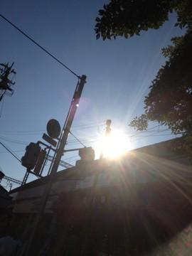 7月9日 太陽の光線が綺麗です