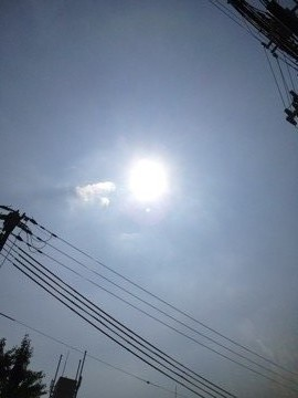7月10日 少し雲が多いですね