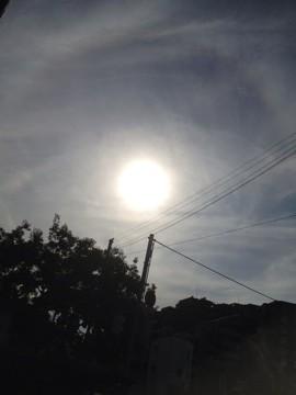 7月13日 太陽の輪が解り易い