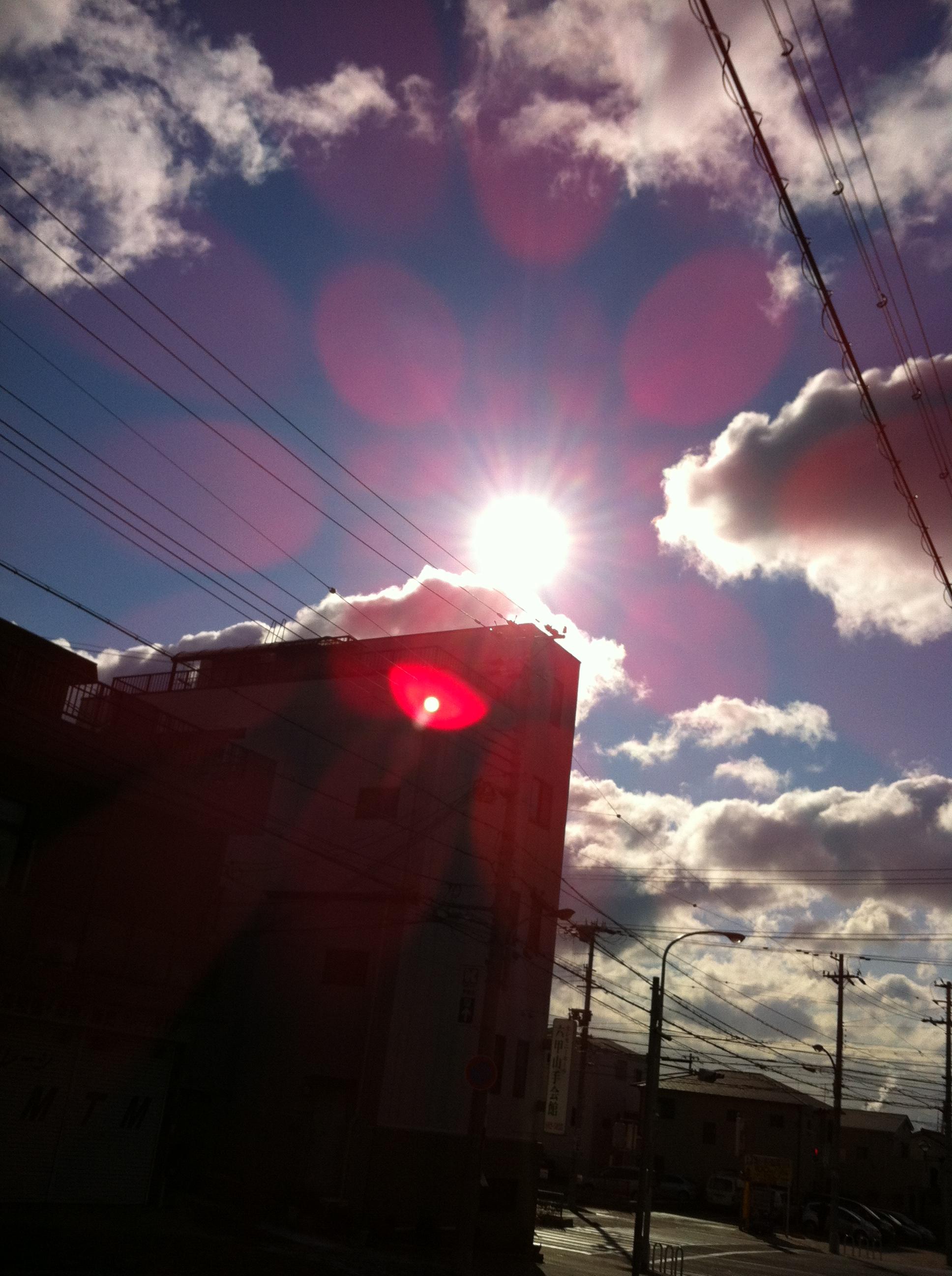 2012年2月18日 雲の切れ目から
